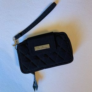 Vera Bradley Black Smart Phone Wristlet